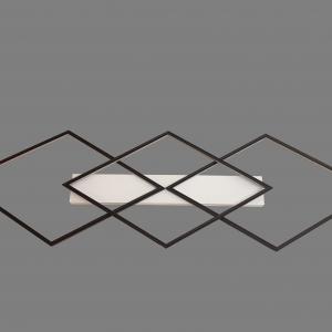 מנורה צמודת תיקרה עם שלוש מעויינים, המנורה עוצבה על ידי המעצב יעקב ארז מבית רנאור עיצובי תאורה, גוף התאורה ייצור כחול לבן עבודת יד, ניתן לקבל כל גודל וגוון אור לפי דרישה.