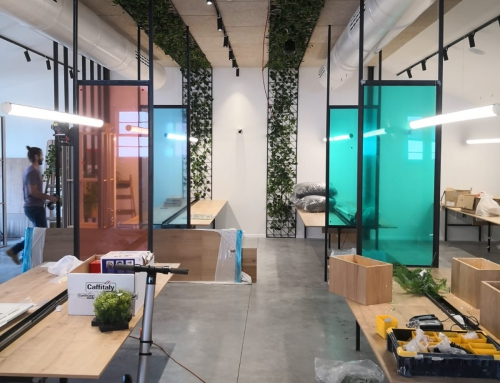 תאורת פרופילים עגולים למשרדים